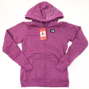 The North Face NWT Womens Purple Zip Hoodie Small